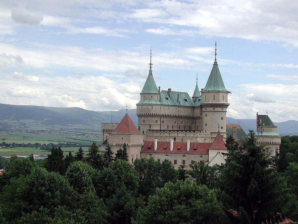 Bojnický zámek na Slovensku
