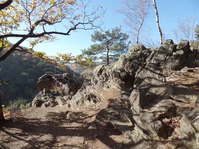Čertovy kazatelny v Rychlebských horách