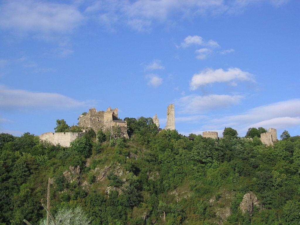 Zřícenina lichtenburského hradu Cornštejn