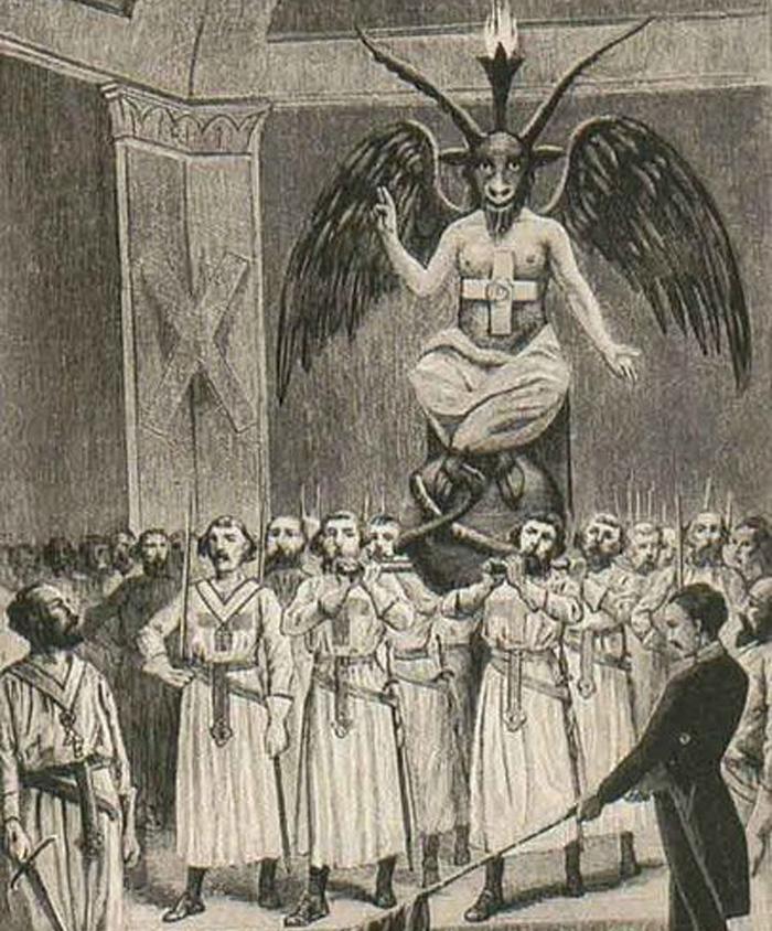 Templáři obviněni z uctívání démona