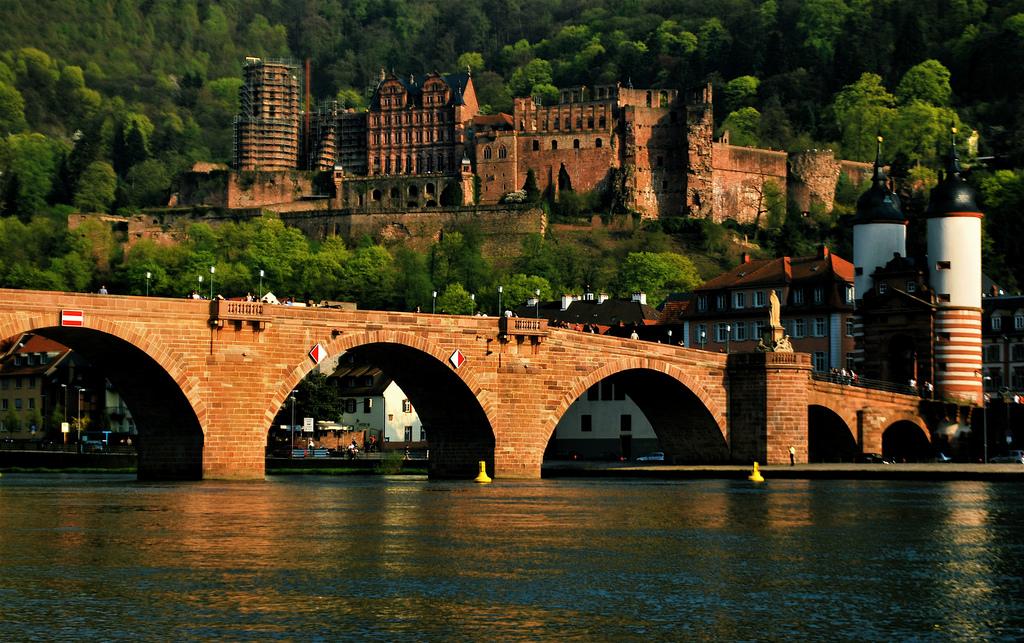 Rozsáhlé šlechtické sídlo v Heidelbergu