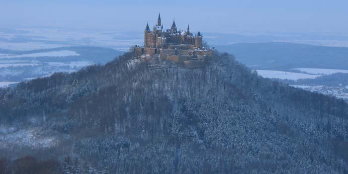 Monumentální hrad Hohenzollern