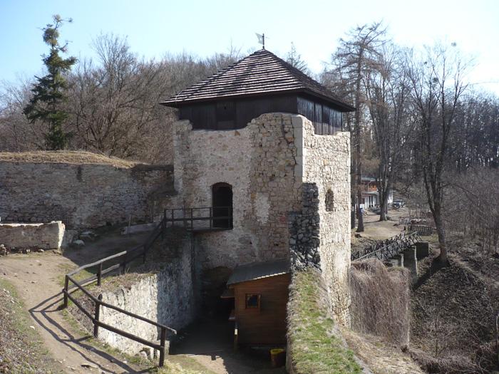Romantická zřícenina hradu Lukov