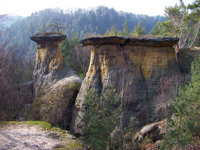 Zajímavé přírodní Mšenské pokličky