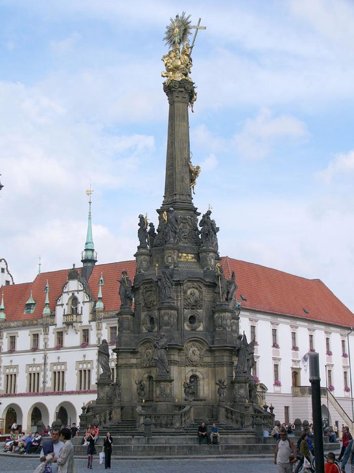 Památka UNESCO – sloup Nejsvětější Trojice v Olomouci