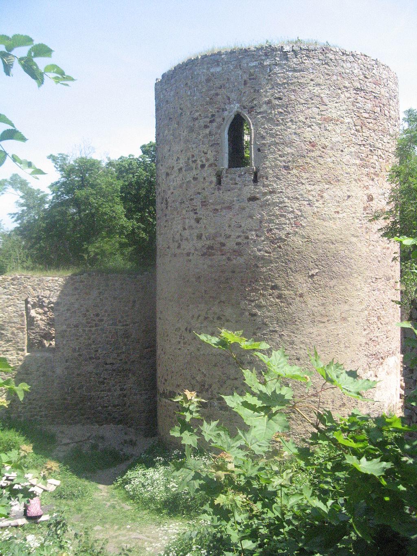 Opuštěný hrad Valdek
