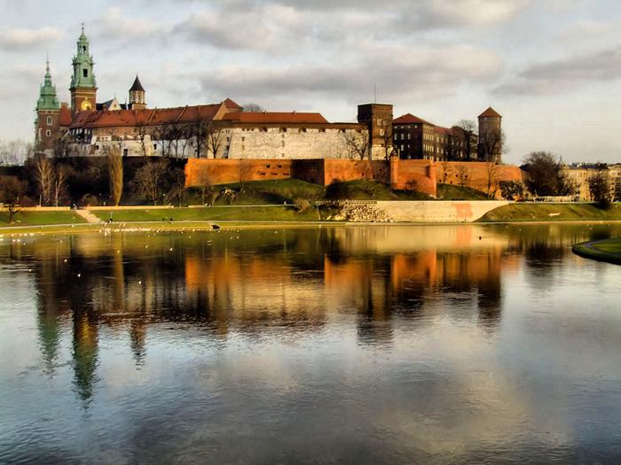 Královský hrad na Wawelu v Polsku